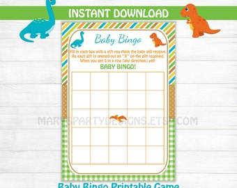 Dinosaur Baby Shower Games Guess That Mess Dirty Diaper Game Etsy