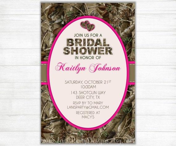 Camo Wedding Invitations To Make: Items Similar To Camo Bridal Shower Invitation