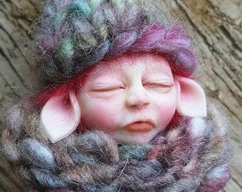 OOAK fairy baby doll, polymer clay baby, art doll, fairy, handmade, art dolls, baby, miniatures, hand sculpture, Art & Collectibles, figure