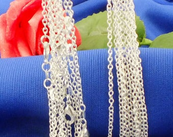 """SUPER SALE Sterling Silver Plated """"O"""" Necklace Chain - 1mm Thick - Pick Size 16"""" through 30"""" - Silver Necklace - 925 Stamped"""