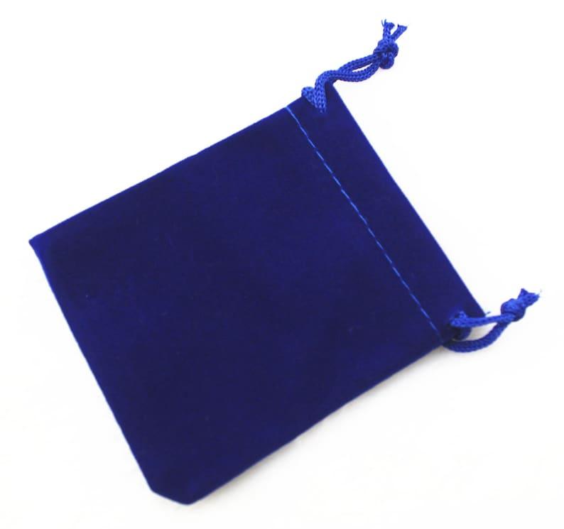 df646eab50b446 50 pcs 7 x 9 cm royal blue velvet bags jewellery pouches small | Etsy