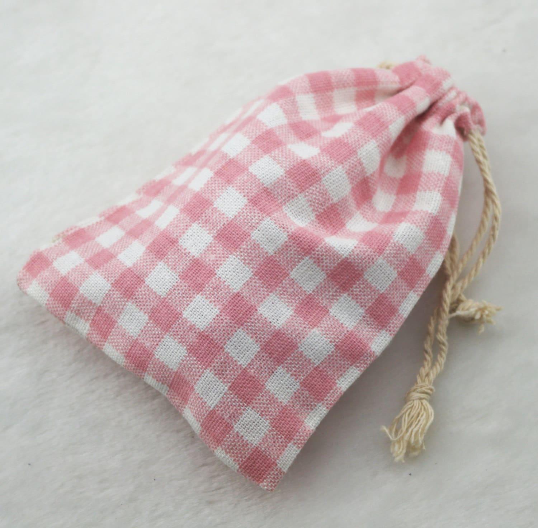 4x6 inches 10x15cm Vintage Cotton Burlap Jute Pink Cross