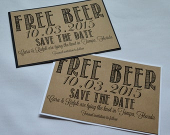 Free Beer Save Etsy - Funny save the date templates