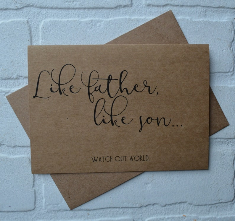 Happy Fathers Day card LIKE FATHER like SON funny fathers day image 0