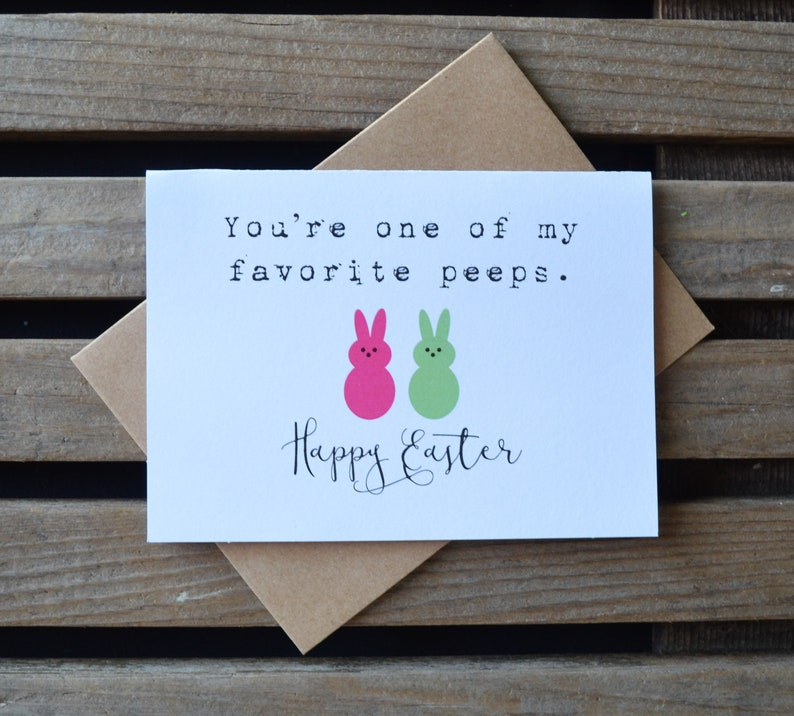 YOURE one of my favorite PEEPS easter card Happy Easter card image 0