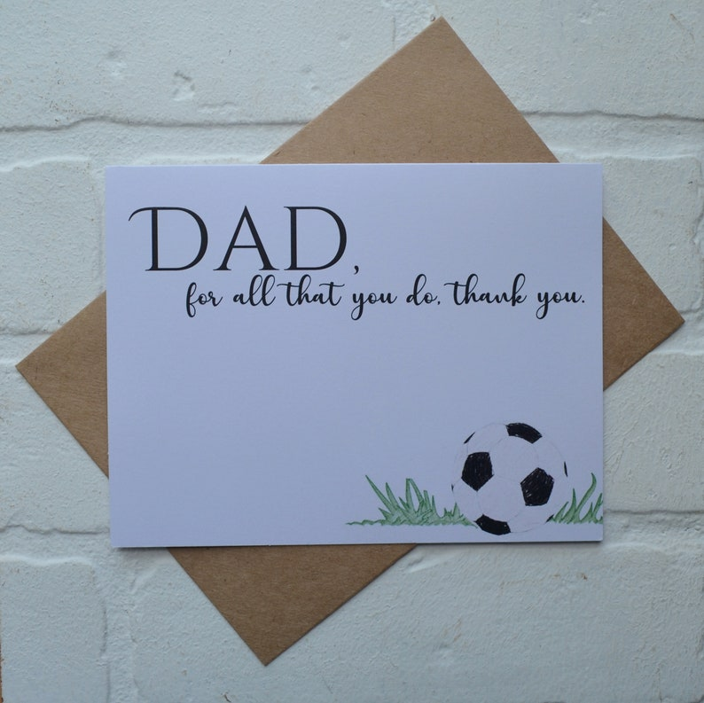 For ALL that YOU DO Thank you Happy Fathers day cards Dad card image 0