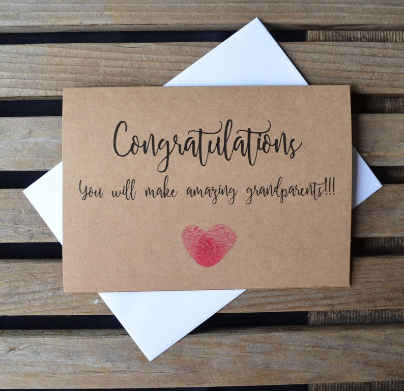 CONGRATULATIONS you will make AMAZING GRANDPARENTS pregnancy card new baby card new parent card expecting grandma grandpa congrats baby card