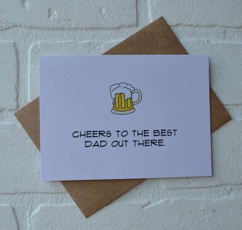 CHEERS to the best dad out there Happy Father's Day card image 0