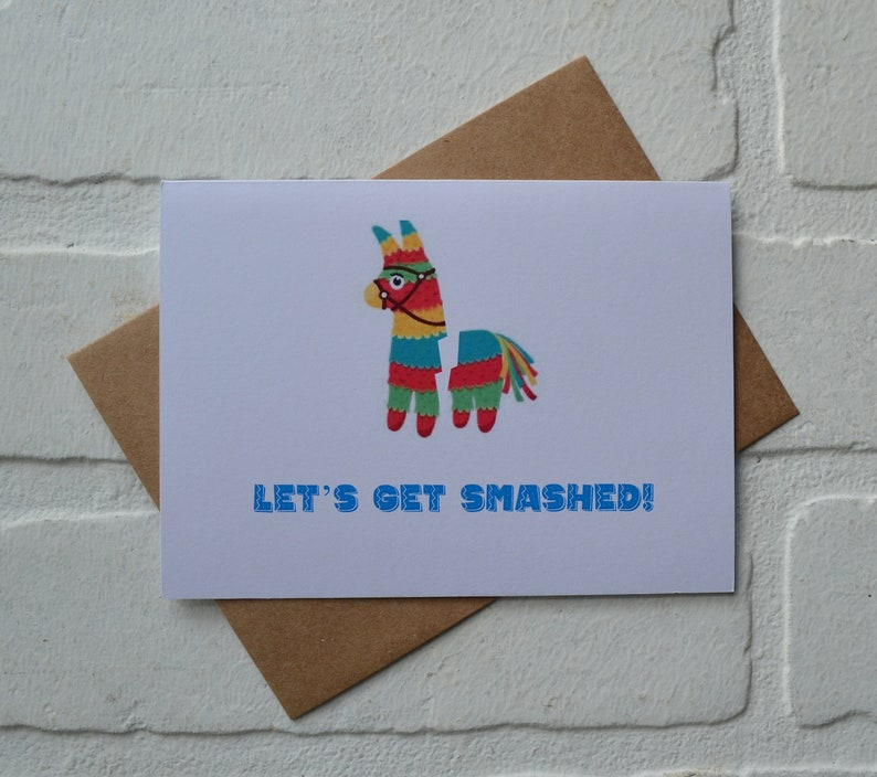 LET'S GET SMASHED cinco de mayo card  mexican holiday image 2