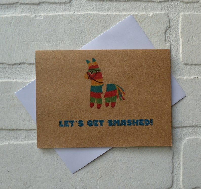 LET'S GET SMASHED cinco de mayo card  mexican holiday image 1