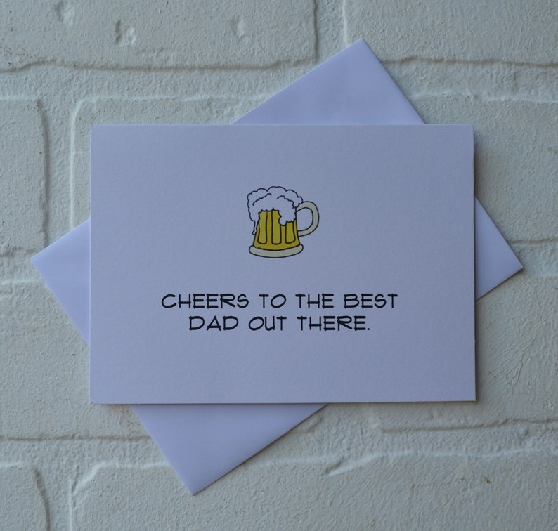 CHEERS to the best dad out there Happy Father's Day card image 1