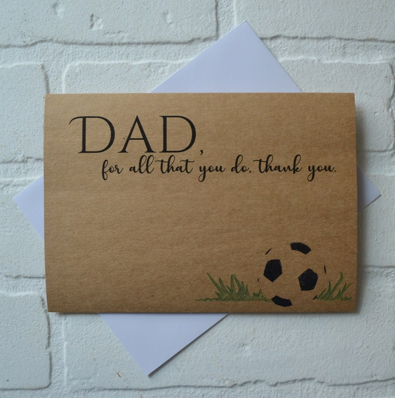 For ALL that YOU DO Thank you Happy Fathers day cards Dad card image 1