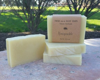 Honeysuckle, Natural Handmade Soap, Artisan Soap, Floral, Cold Process Soap