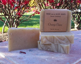 Orange Clove, Natural Handmade Soap, Spice Soap, Cold Process Soap, Vegan