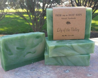 Lily of the Valley, Natural Handmade Soap, Artisan Soap, Floral, Cold Process Soap