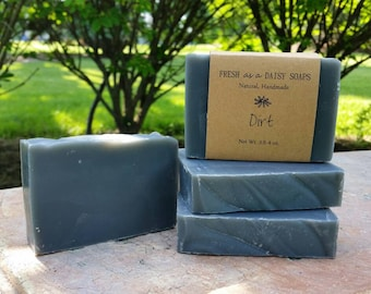 Dirt, Natural Handmade Soap, Hunter's Soap, Activated Charcoal, Cold Process, Vegan