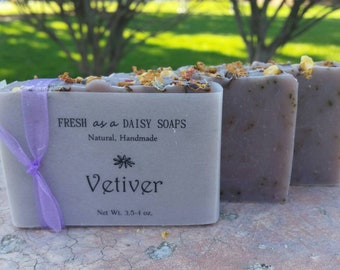 Vetiver, Natural Handmade Soap, Artisan Soap, Cold Process Soap