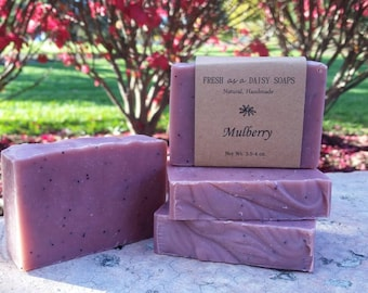 Mulberry, Natural Handmade Soap, Artisan Soap, Exfoliating, Cold Process Soap