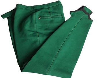 365a7cd19ea 60s Men s Stirrup Ski Pants • Vintage WHITE STAG Green Stretch Pants • Size  34 Regular • Made in Austria