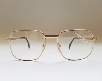51fd9ad03e NOS NEOSTYLE Haute Couture COLLEGE 6 Oversize Glasses • Mens Vintage 80s  Gold Large Square Eyeglass Frames • Made in Germany