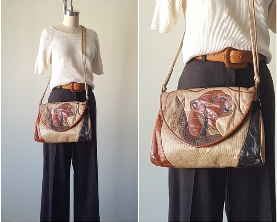 Leather Cross Body Bag Cat Purse • Made in USA