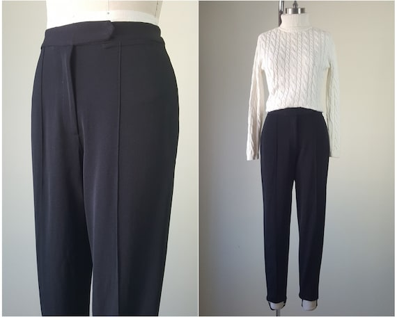 "DKNY Black Stirrup Pants 27"" High Waist Size S"