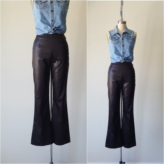 Satin Stretch Flared Trousers • Size S