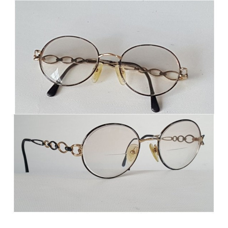 cbf3303f1d GIORGIO BEVERLY HILLS Glasses Vintage Black   Gold Metal