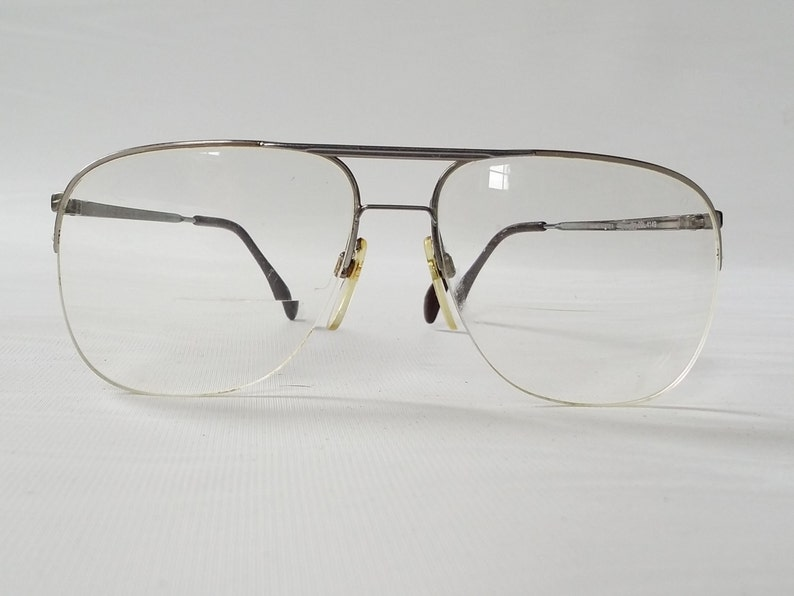 deb6ad1443 SILHOUETTE Metal Semi Rimless Eyeglass Frames Vintage