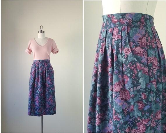 LAURA ASHLEY Cotton Floral Midi Skirt