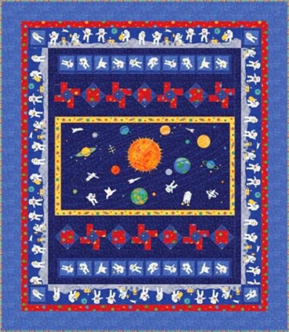 Cosmic Universe Geometric Star Blue Purple  Northcott Quilt cotton Panel 24 x 44
