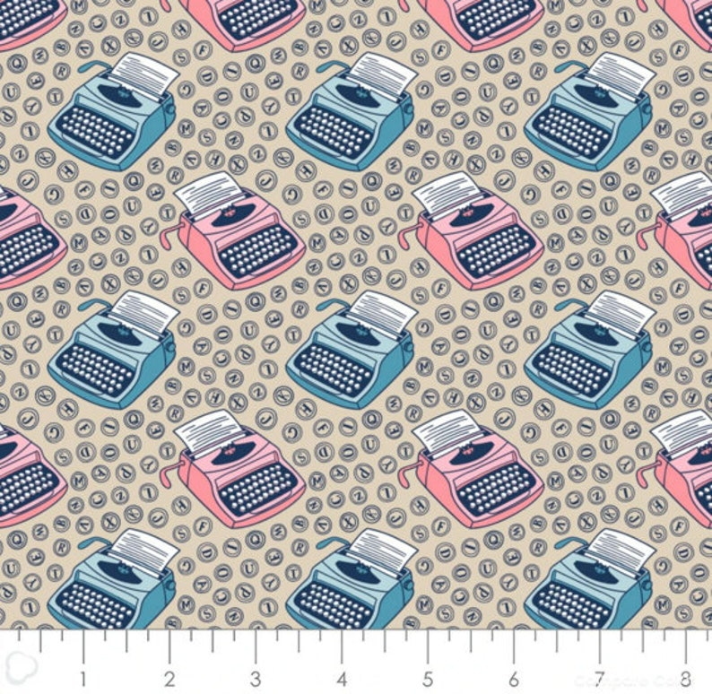 1 yard cut Literary Fabric Cut Cotton Fabric Camelot Fabrics Quilting Fabric books Fabric