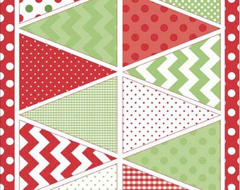 Holiday Banners - Christmas Banner - Red Banner - Muiti Banner -  Riley Blake Designs 1 panel cut