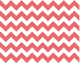 Small Chevron Rouge - 1 yard Cut -  Riley Blake Designs - Cotton Fabric - Chevron Fabric - Quilting Fabric - Zig Zag Fabric