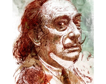Una rosa para Dali - edición limitada imprimir en papel. Edición de 150