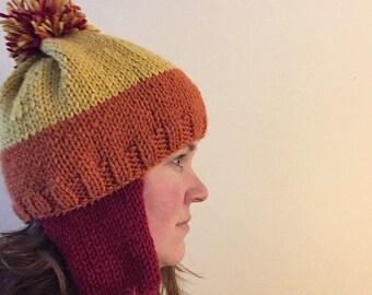 c4bb0865120 Handmade Jayne Cobb Firefly Hat Cranberry Earflaps