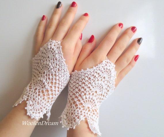 Prom Quinceanera Vintage Wedding Theatre Bridal Accessories Crochet gloves