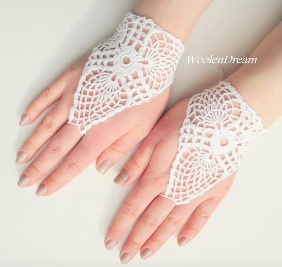Braut Häkelspitze Handschuhehäkeln Manschette