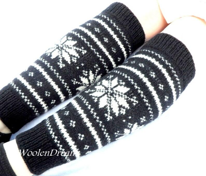 0b6a6442b Knitted Leg Warmers Womens Leg Warmers Knitted Boot Socks Wool