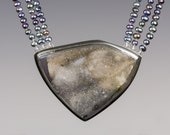 Druzy and Pearl Necklace