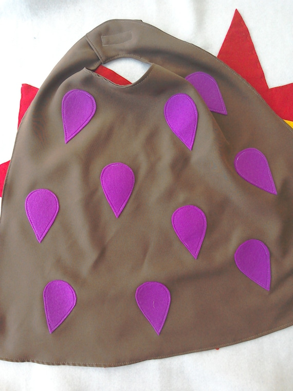 costume for dressing up Gruffalo cape with purple prickles role play Halloween or a birthday gift for boys and girls.