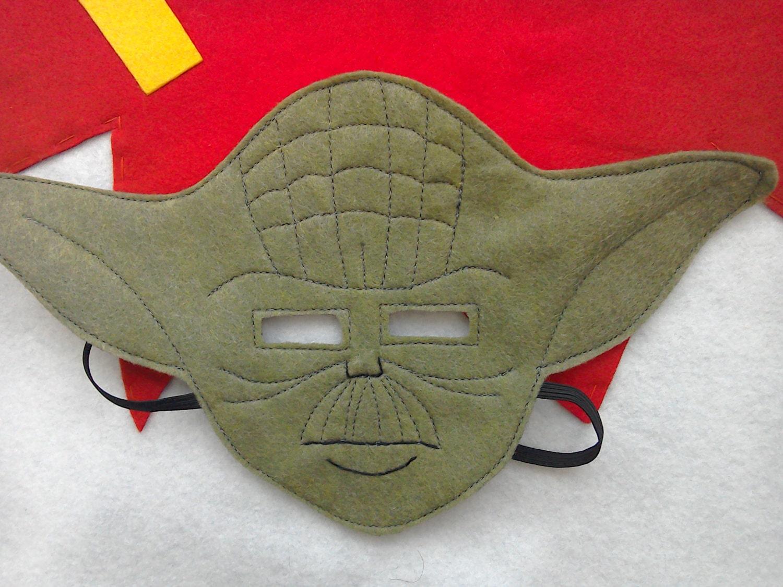 Filz Yoda inspiriert Maske Kostüm für Kinder verkleiden sich