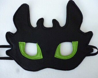 Toothless dragon viking mask for children dressing up costume. Great gift, birthdays, parties, role play/