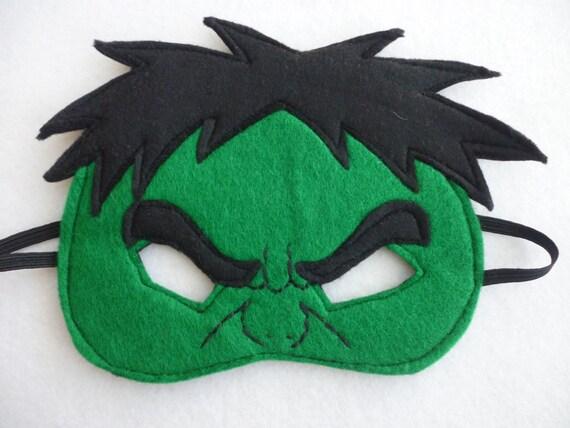 Masque Visage à Demi De Hulk En Colère Pour Les Enfants Etsy