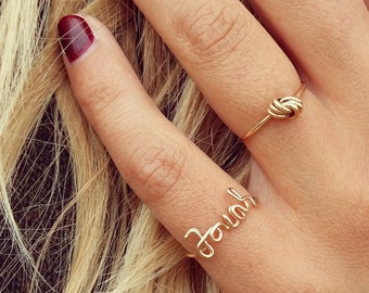 Personalized Ring = From Gold Filled = Gift Mom / BabyName = mum to be = Gift for baptism