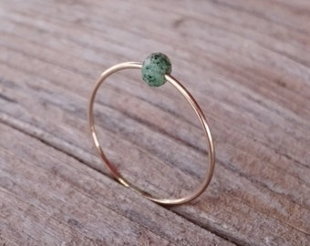 Ring with cut ruby zoisite ) made of noble goldfilled / filigree jewelry / stacking ring / gift for you