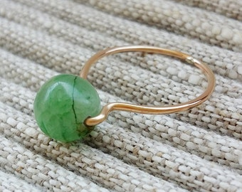 KYANIT Ring / Gold Filled / green gemstone ring / plain ring with KYANIT ) as a supplement to the WAVE ring / ocean collection