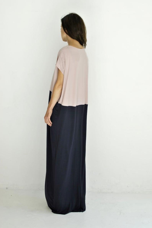 oversized maxi dress plain wide dress modern hippie dress image 0