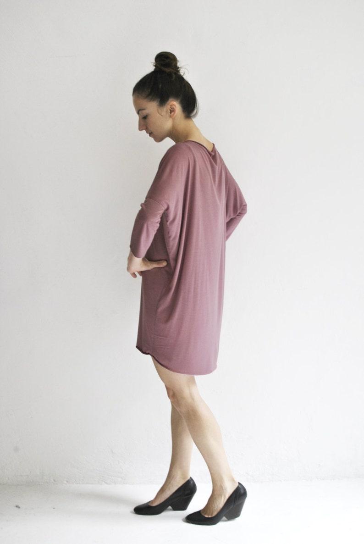 jersey dress oversized shirt dress berry image 0
