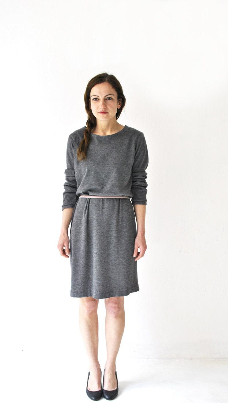 shift dress grey sporty dress grey wool dress oversized image 0